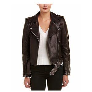 Walter Baker Allison black leather jacket